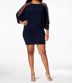 324a2fcf374 Betsy  amp  Adam New Plus Size Embellished Cold-Shoulder Dress Size 20W  DN