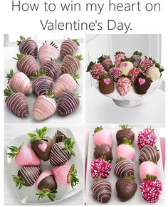 Tasty strawberries with chocolate on valentines day