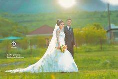 Wedding dress with my family