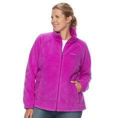 Plus Size Columbia Three Lakes Fleece Jacket, Women's, Size: 1XL, Lt Purple
