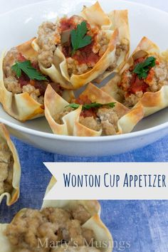 Easy Wonton Cup Appe