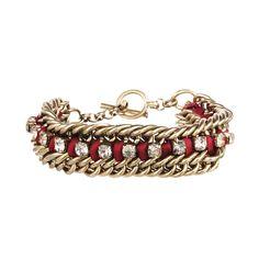 '*)E   Crystal Studded Ribbon Chain Bracelet $38  Shop my boutique:  https://www.chloeandisabel.com/boutique/marina