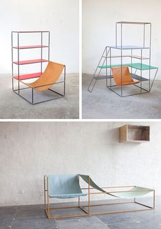above: love these incredible storage + seating pieces by Muller van Severen.