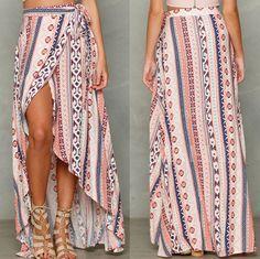 2017 New Tied To The Waist Chiffon Long Skirts