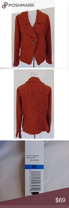❤️NWT Rafaela orange beautiful blazer size XL❤️ Perfect for winter Rafaella Jackets & Coats Blazers
