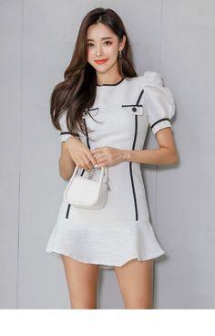 White Dress, Asian, Butterfly, Dresses, Beauty, Park, Mini, Model, Vestidos