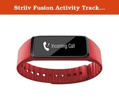 Striiv Fusion Activity Tracker Smartwatch, One Size, Orange. Function, versatility, and organization make up the Striiv Fusion band to create the ultimate in fitness-tracking technology. This device does it all from tracking your exercising, steps taken, and even lets you know how much sleep you're getting over time as well as the quality. Never miss a single notification with the date and time vibrating alarm, the incoming call alerts, or the text message notifications. It syncs with…
