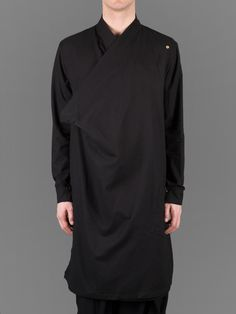 Aleksandr Manamis wrap front light coat #aleksandrmanamis