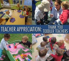 Being a toddler teacher can be tedious & tiresome work. Read one mom's special thank you to toddler teachers everywhere during Teacher Appreciation Month.