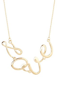 Love Necklace.  Very classic and cute at the same time.