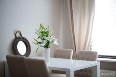 Jonnamaista Kitchen Dining, Sweet Home, Curtains, Mansions, Interior Design, Home Decor, Nest Design, Blinds, Decoration Home