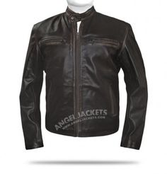 $199.00 - Mark Wahlberg Brown Contraband Leather Jacket