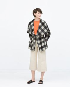 ZARA - WOMAN - HANDMADE CHECKED SHORT COAT