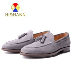 398.00$  Buy now - http://alicmc.worldwells.pw/go.php?t=32539139846 - Goodyear Handmade Suede Genuine Leather Men Loafers Men Wedding and Party shoes Men Flats Size US 6-13 Free shipping