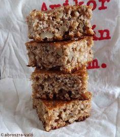 Kipróbált és bevált receptek: Zabpelyhes sütemény Healthy Cooking, Healthy Recipes, Homemade Cakes, Cake Cookies, Sweets, Eat, Food, Chips, Diets