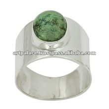 Natural Turquoise Gemstone Sterling Silver Ring Jewellery