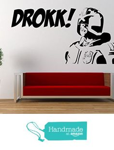 Judge Dredd DROKK Quote, Vinyl Wall Art Sticker. Decal, 2000AD, Comic, Characters Movie. Home, Wall Decor. Living room, Bedroom from Fabulous Wall Art Stickers https://www.amazon.co.uk/dp/B06WLNJZBW/ref=hnd_sw_r_pi_dp_JR.Ryb6PX1VDE #handmadeatamazon