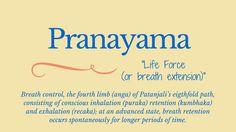 Pranayama= breath control