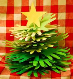 Christmas Handprint Tree {thesnailstrail}