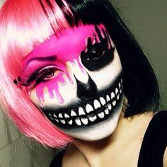 Halloween make up Costume Halloween, Fete Halloween, Halloween Make Up, Halloween Face Makeup, Skeleton Costumes, Alien Halloween, Halloween Magic, Halloween 2014, Scary Makeup