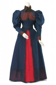 1895 House of Worth Day Dress. (National Gallery of Victoria)