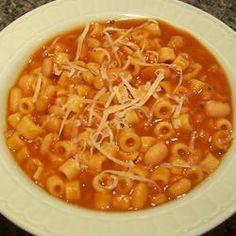 Andrea's Pasta Fagioli Recipe Pasta Recipes, Crockpot Recipes, Dinner Recipes, Cooking Recipes, Pasta And Beans Recipe, Meatless Recipes, Pasta Fagioli Recipe, Pasta Fagioli Crockpot, Cooking Fresh Pasta