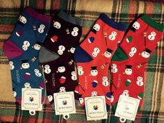 New unisex men women Cotton Little Snowman pattern socks for Christmas_4 colors…