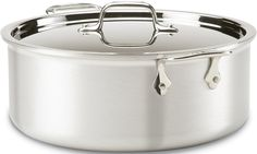 All-Clad 7506 MC2 Master Chef 2 Stainless Steel Tri-Ply Bonded Stockpot with Lid Cookware, 6-Quart, Silver ** Visit the image link more details.