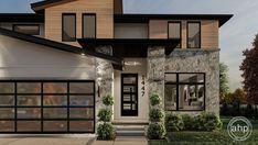 2 Story Modern Style House Plan   Pacific Heights