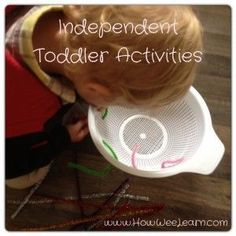 Independent Toddler Activities - these ideas are perfect to do right now with what you already have at home!