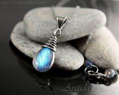 Labradorite jewelry Labradorite necklace oxidized sterling silver - turquoise teal blue black gemstone pagan jewelry rusteam ohtteam - Alina. $49.00, via Etsy.