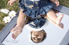 Baby on mirror photoshoot baby newborn