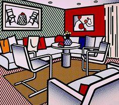 Roy Lichtenstein. Interior con pared roja, 1991.