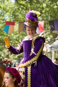 Jennifer Higgins as the Queen, part of the Bristol Renaissance Faire, now playing through September 3rd in Kenosha. (photo credit: John Karpinski)