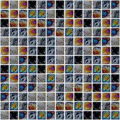 Diesel Black Square Mosaic (30.6x30.6cm) Tile