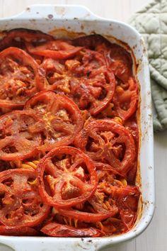 Pasta with Fresh Tomatoes (gluten-free) via @Lisa Thiele