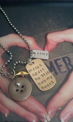 Miles Apart  Military Wife/Fiance/Girlfriend by LoBabyJewelry, $20.00