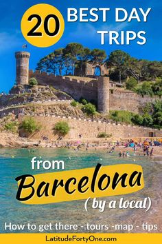 Get practical detailed information on the best day trips from Barcelona Spain: how to get there tours tips and a map. Barcelona Day Trips, Barcelona Spain Travel, Barcelona Things To Do In, Barcelona Beach, Sitges, Places To Travel, Travel Destinations, Oregon, Excursion