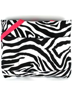 $11.50 Zebra with Hot Pink Trim Large Tote Bag