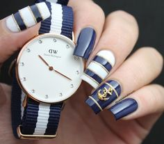 "1,120 Likes, 44 Comments - Katia ✿ Nail Blogger  🇱🇧🇧🇷🇨🇴 (@nailsandtowel) on Instagram: ""Matchy match! 💅🏻⌚️⚓️ 15% off at danielwellington.com using my code: ""nailsandtowel"" 💅🏻⌚️⚓️ For…"""