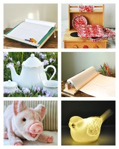Quality Toys from Imagine Childhood - drawing table, bake set, night lights, stuffed animals