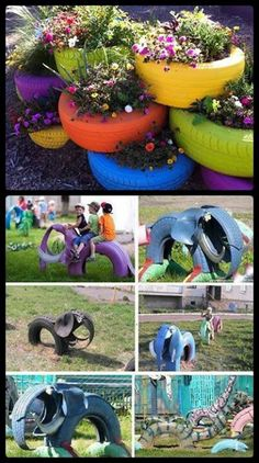 More tire ideas for the garden