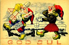 Julekort Finn Sigholdt brukt 1940-tallet