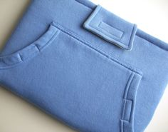MacBook Pro 13 inch Laptop Sleeve with Pocket, Upcycled from Blue Sweatshirt, Recycled Sweatshirt Cover Case for Laptop. $28.00, via Etsy. To make money from your creative passions, visit http://modernhippiemama.com/