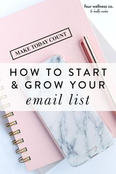 How To Start and Grow Your Email List | Small Business Marketing for Health Coaches | Wanting to create and build an email list for your online health and wellness coaching business? Click for a step by step tutorial on how to set it up on Squarespace so you can implement this effective digital marketing strategy. | Squarespace Tutorial | Entrepreneur Tips | Four Wellness #emailmarketing #healthcoach #digitalmarketing #marketingstrategy #squarespacetips Email Marketing Strategy, Business Marketing, Business Goals, Business Entrepreneur, Email Writing, Coach Website, Workplace Wellness, Dream Career, Email List