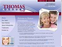 Snap of thomasorthodontics.com Dental Websites, Search Tool, Hosting Company