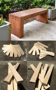 DIY Gifts for Your Parents | Cool and Easy Homemade Gift Ideas That Mom and Dad Will Love | Creative Christmas Gifts for Parents With Step by Step Instructions | Crafts and DIY Projects by DIY JOY | William-Sonoma-Inspired-DIY-Modern-Outdoor-Bench | http://diyjoy.com/diy-gifts-for-mom-dad-parents