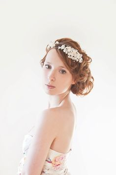 The Pearl  Ivory pearl Bridal Headband by sibodesigns on Etsy, $145.00