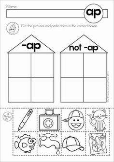 Fantastic and FREE! \'ap\' word family resources and worksheets ...