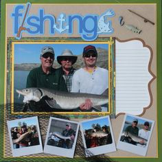 Fishing Quotes for Scrapbooking   Layout: Fishing